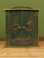 Vintage 1950s Chinese Painted Corner Cabinet, Racing Green (2 of 16)