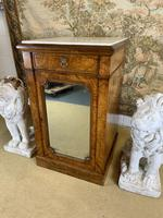Single Burr Walnut Cabinet with Marble Top (3 of 7)