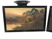 Pair of Romantic Oil Paintings English Landscape Barnstable Devon (2 of 9)