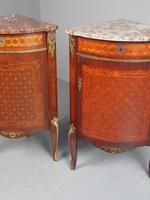 Matched Pair of French Inlaid Corner Cabinets (5 of 18)