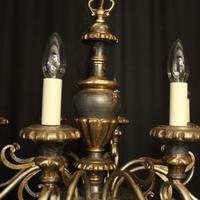 Italian Florentine Silver Giltwood 6 Light Chandelier (3 of 10)