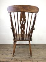 Antique Beech & Elm Windsor Armchair (2 of 12)