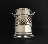 Edwardian Silver Plated Reticulated  Wine Bottle Holder (7 of 7)