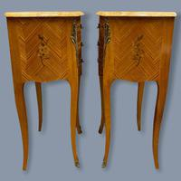 Pair of Marquetry & Marble Top Side Tables (5 of 8)