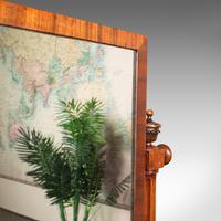 Antique Dressing Mirror, English, Mahogany, Boudoir, Pedestal Base, Victorian (9 of 12)