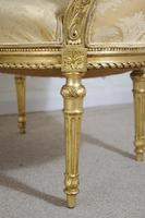 Pair of 19th Century French Gilt Louis XVI Style Armchairs (9 of 19)