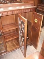 Carved Oak Bookcase with Cupboards (3 of 3)