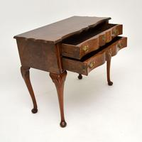 Antique Burr Walnut Low Boy Side Table (9 of 11)