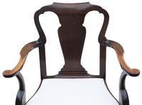 Set of 8 Mahogany Dining Chairs Queen Anne revival c.1910 (7 of 11)
