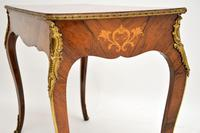 Antique Victorian Marquetry Top Console Table (10 of 12)
