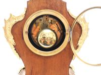 Wow! Phenomenal French Boulle Mantel Clock Multi Wood floral inlay 8 Day Mantle Clock (3 of 6)