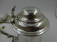 Antique George II Silver Lidded Tankard London 1754 Maker Thomas Whipham (4 of 9)