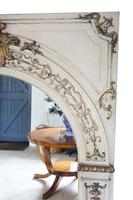 19th Century overmantle wall floor mirror painted (5 of 7)