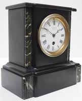 Antique French Slate & Marble 8 Day Mantel Clock J W Benson (5 of 8)