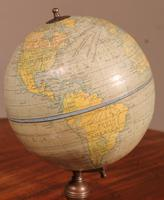 English Globe With Its Wooden Base - Early 20th Century (5 of 7)