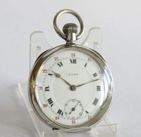 """1918 silver """"Just"""" pocket watch, 24 hour dial (2 of 5)"""