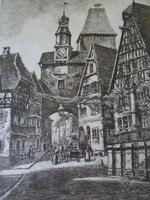 Etching by Professor Otto Ferdinand Probst - Rothenberg ? (3 of 5)