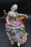 Fine Late 19th Century Meissen Model of a Seated Young Lady (3 of 4)