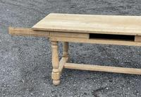 Large Bleached Oak Farmhouse Dining Table with Extensions & Storage (27 of 35)