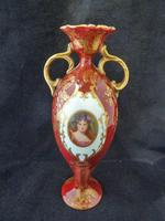 Superb and Rare Doulton Burslem Porcelain Vase With Portrait
