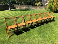Antique Set of 8 Folding Beech Chairs (4 of 9)