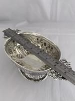 Victorian Antique Silver Fruit Bowl 1861 London William Stocker Sterling Bowl (8 of 11)