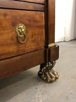 Lions paw French Empire marble top chest of drawers (3 of 10)