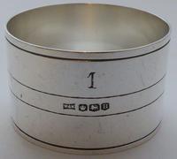 Walker & Hall Set 4 Art Deco Hallmarked Solid Silver Napkin Rings Serviette Ring (6 of 10)