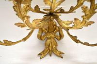 Pair of Antique Gilt Bronze Wall Sconce Candelabra (8 of 9)