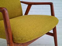 Alf Svensson, 60s, Armchair Model Kontur, Completely Restored, Furniture Wool (13 of 16)
