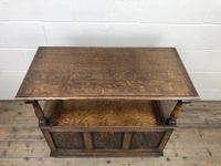Antique Carved Oak Monks Bench Hall Seat (9 of 10)