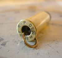 Vintage Pocket Watch Chain Bullet Casing Fob Brass & Steel RP Rem Mag 44 (5 of 6)