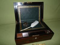 Fine Quality Inlaid Rosewood Writing Box c.1870 (11 of 11)