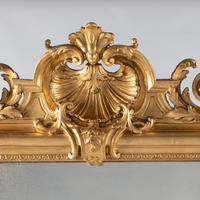 Large 19th Century French Gilt Overmantle Mirror (8 of 8)