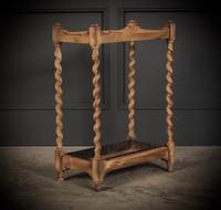 Bleached Raw Oak Umbrella / Stick Stand (4 of 8)