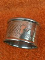 Vintage Sterling Silver Hallmarked 1960 Napkin Ring, Preece & Williscombe, London (5 of 6)