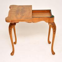 Antique Queen Anne Style Burr Walnut Card Table (3 of 11)