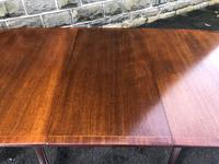 Antique Mahogany Twin Pillar Extending Dining Table (10 of 11)