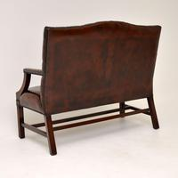Leather & Mahogany Chippendale Style Sofa (4 of 12)