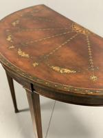 Late 18th Century Painted Demi-lune Console table (6 of 6)