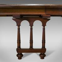 Large Antique Extending Dining Table, French, Walnut, Seats 4-10 c.1900 (6 of 12)