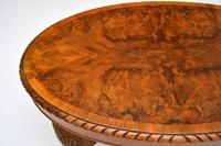 Antique Burr Walnut Oval Coffee Table (6 of 8)
