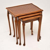 Queen Anne Style Mahogany Nest of Tables