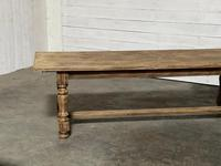 Nice Large Bleached Oak Farmhouse Dining Table With Extensions (19 of 35)