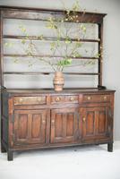 Antique Rustic English Country Kitchen Georgian Oak Dresser (2 of 12)