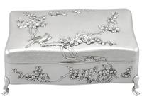 Chinese Export Silver Jewellery Box - Antique c.1895