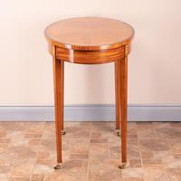 Inlaid Oval Satinwood Occasional Table (10 of 15)