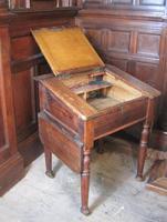Antique pine school desk (2 of 5)