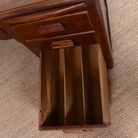 Desk Twin Pedestal Mahogany Leather Art Deco (7 of 12)
