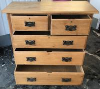 Arts And Crafts Glasgow Style antique 2 over 3 Chest of Drawers in Blond Oak (4 of 8)